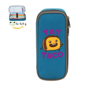 Mybox Yay Taco Cube Pen Case Pencil Box Soft Canvas Student Stationery Office Storage