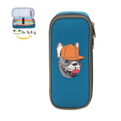 Mybox Animals Wolf Dog Cube Pen Case Pencil Box Soft Canvas Student Stationery Office Storage