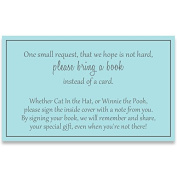 Gender Neutral Baby Shower, Bring a Book Inserts, Boys, Blue and Grey, Poem, Printed Insert Cards, . , Request, Insert