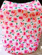 AllTot Multi-Use Car Seat, Nursing, Cart Cover in indy blooms floral 3 products in 1, Baby girl car seat cover