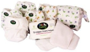 Day Pack Cloth Nappy Bundle by nuababy. Includes 5 cloth nappy sets (cover and soakers)-1 large wet bag-1 booster set-1 pack of liners. Perfect gift for a new mom!