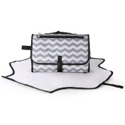 Large Changing Pad Station Portable Changing Clutches Designs Clutch Nappies Change Grey Chevron Design