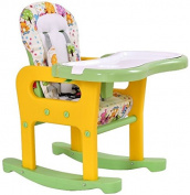 K & A Company Convertible Table Chair Play Baby High Seat Feeding Booster 3 Toddler 1 Tray Us Conversion Deluxe Home Highchair Rocking Yellow