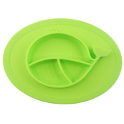 Oval Silicone Placemat For Food, Silicone Mini Mat - Children's Placemat, Suitable For Baby Toddlers, Microwave & Dishwasher Friendly, Made With Food Grade Silicone, Safety Assured