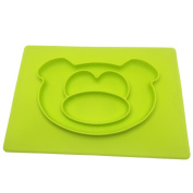 Pulison(TM) Creative Silicone Children 's Plate Animal Series Integrated Silicone Plate