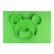 One-Piece Silicone Solid Feeding Children's Place Mat BPA Free by Babs Babies