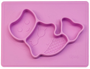 "Lilly'sLove Silicone Placemats "" THE MERMAID PAD"" This little (Mini) toddler Mermaid Fish plate fits in Ziplock bag, Making it the BEST Silicone Place Mat"