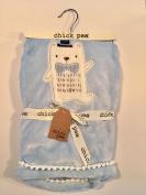 Chick Pea Top Hat Polar Bear Blue Baby Blanket