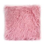 SHZONS Home Decorative Plush Pillow Case Back Cushion Case for Office Sofa