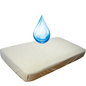 DorDor and GorGOr Baby Waterproof Quilted Crib Size Fitted Mattress Cover made with Organic Cotton laminated to TPU film