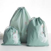 3 Pcs Travel Portable Storage Bags Cartoon Pattern Practical Waterproof Storage