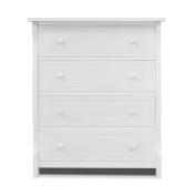 Sorelle Tuscany 4 Drawer Dresser, White