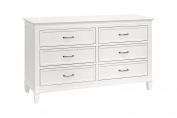 Million Dollar Baby Darlington 6-Drawer Dresser, Warm White