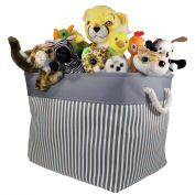 Canvas Toy Storage Basket and Bin | Storage Organiser for Toys, Nursery, Baby and Kids Clothing, Books, Knitting