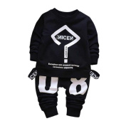 Casual Comfy Outfits for Toddler Baby Kid Boy Girl Letter Printing T-shirt Tops+Pants Clothes Set by Keepfit