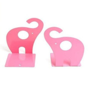 Eforstore 1 Pair Metal Decorative Art Elephant Bookends Shelf Books Textbooks Decorative Bookend for Kids Children Teen Girls Boys Teens Toddlers Baby Nursery Room
