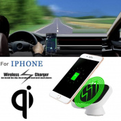 Qi Wireless Car Charger Charging Pad Stand For Iphone 8/8 Plus,Tuscom Car Charger With 3M adhesive pad
