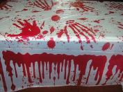 Halloween Party Printed Blood Stained Table Cloth Wipe Clean