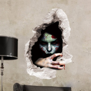 3D Halloween Wall Decal,VENMO Indoor Halloween Party Decoration Wall Art Sticker Animated Zombie Happy Halloween Floor Mural Wall Decal Cling For Living Room Bedrooms