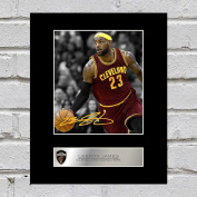 LeBron James Signed Mounted Photo Display Cleveland Cavaliers