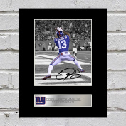 Odell Beckham Jr. Signed Mounted Photo Display New York Giants