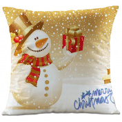 Hangood Soft Flannel Throw Pillow Case Cushion Covers Christmas Snowman 46cm x 46cm