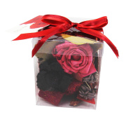 Premium Gift Boxed Potpourri in Clear Display Case Home Fragrance Gift[Does Not Apply,Tl Red,12x10cm]
