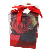 Premium Gift Boxed Potpourri in Clear Display Case Home Fragrance Gift[Does Not Apply,Red,13x9cm]