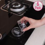 Eudemon Clear 6pack Safety Children Kitchen Stove Gas Knob Covers