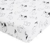 aden by aden + anais crib sheet, trotting fox - foxy