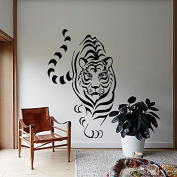 Wall Decals Wild Animals Tiger Predator Bedroom Living Children Girl Boy Baby Room Vinyl Decal Sticker Home Decor L11