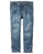 OshKosh B'gosh Little Boys' Convertible Jeans, Camper Indigo, 4 Kids