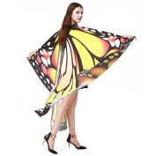 Kintaz Women Butterfly Wings Shawl Scarves Ladies Nymph Pixie Poncho Costume Accessory