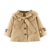 Kintaz Baby Girls Princess Bowknot Outerwear Jacket Ruffle Windbreaker Trench Wind Dust Coat