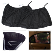 Homgaty 2 Pcs Car Sun Window Shades, Mesh Covers Side Rear Window Maximum UV Protection for Baby, Children, Kids and Dog