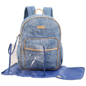 CHEROKEE Denim Print Backpack Nappy Bag