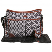 CHEROKEE Black and White Hobo Print Multi Piece Tote Nappy Bag