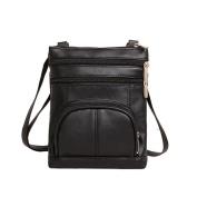 Aurorax Women's Vintage Leather Zipper Crossbody Shoulder Messenger Bag Motorcycle Purse Handbag