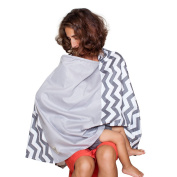 BEST BABY NURSING COVER, Great New Design, FULL Privacy w/ Window, Soft Cotton