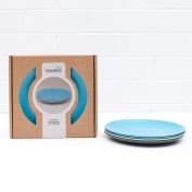 Bobo & Boo Bamboo Kids Plates, Set of 4 Eco Friendly Toddler Plates :: Non Toxic Children's Dinnerware for Babies & Big Kids :