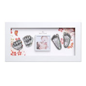 Momspresent baby footprints hand Casting Kit with White Frame1