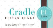 BE Basic Bambino Basics Cradle Sheet in White