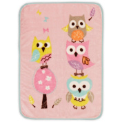 Dancing Owls Ultra Plush Girl Baby Blanket