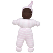 Under the Nile Baby Girl Jayla Baby Doll 25cm Organic Cotton Pale Pink Stripe Organic Cotton