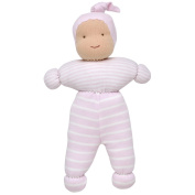 Under the Nile Baby Girl Chloe Baby Doll 25cm Organic Cotton Pale Pink Stripe Organic Cotton