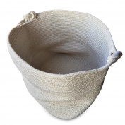 Magic Solutions Large Cotton Rope Storage Basket 15 by 38cm by 33cm for Toy Storage