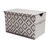 Bacati LOVE diamonds/Stripes Kids Storage
