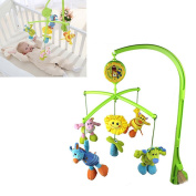 Baby Bedding Crib Musical Mobile with Hanging Rotating Soft Colourful Plush Dolls