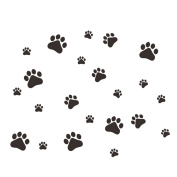WINOMO Cute Dog Wall Sticker Dog Paw Prints Removable DIY Art Mural Decals for Living Room Bedroom Nursery Kids Room Home Decor