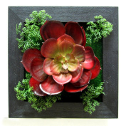 Sikye 3D Plant Wall Stick Creative Beauty Artificial Flowers Frame Decoration for Room Home Decor